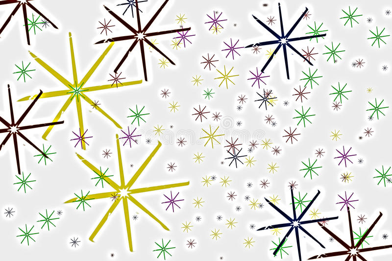 Colorful snowflakes royalty free stock photos