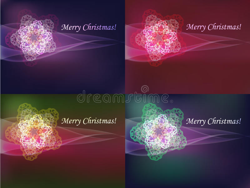 Download Colorful snowflakes set stock vector. Image of color - 16113440