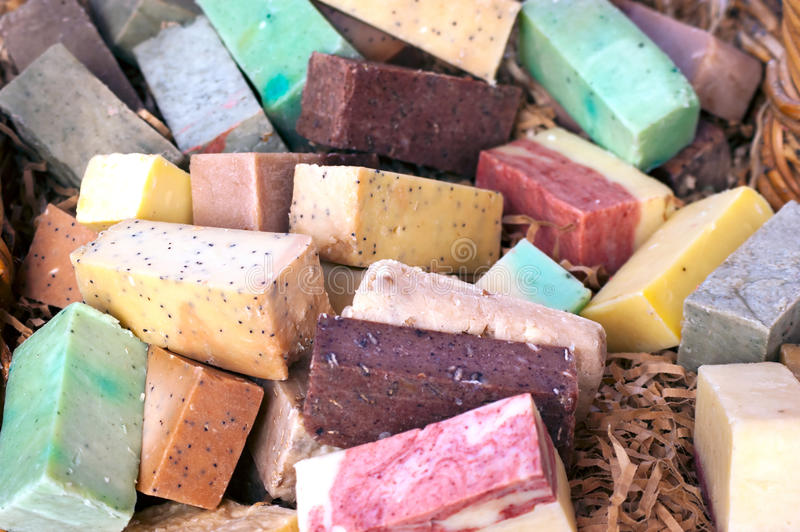 Colorful Soap bars royalty free stock photo
