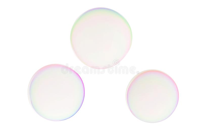 Colorful soap bubbles royalty free stock photos
