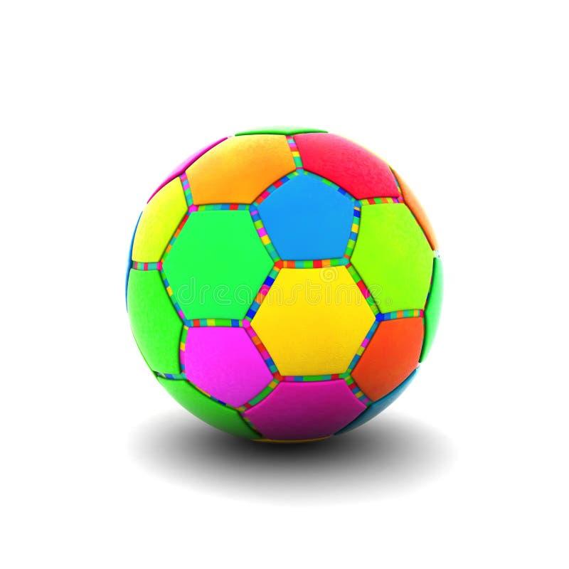 Colorful soccer ball stock illustration