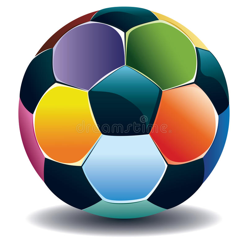 Colorful Soccer Ball vector illustration