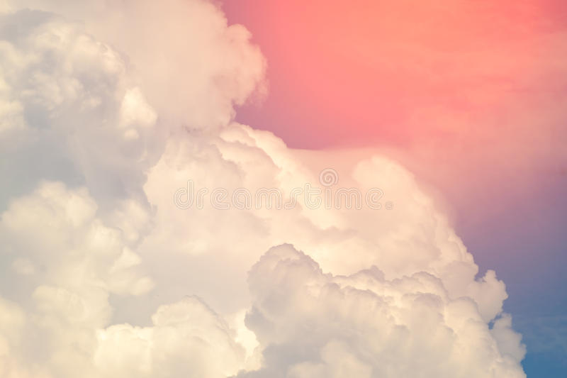 Colorful soft cloud and sky for background stock photos