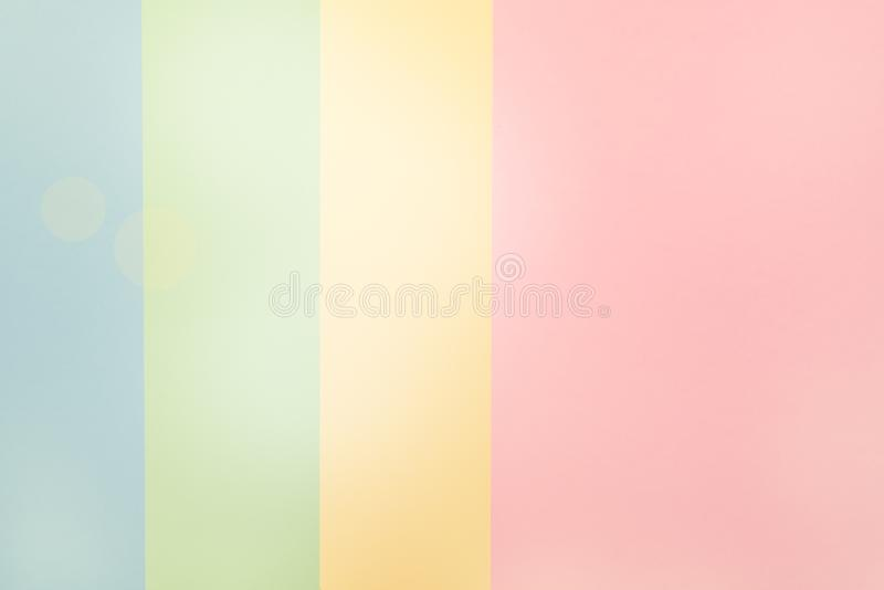 Colorful of Soft Pink Green Yellow Blue Paper Background stock photography