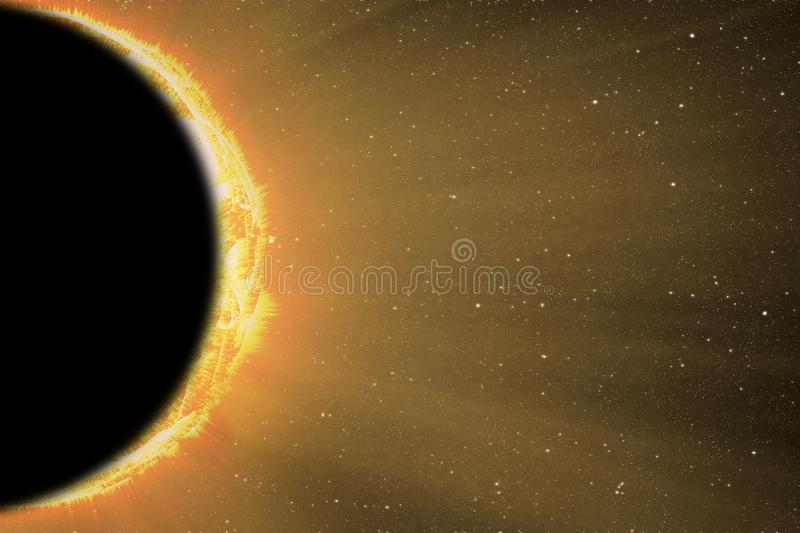 Colorful solar eclipse stock photography