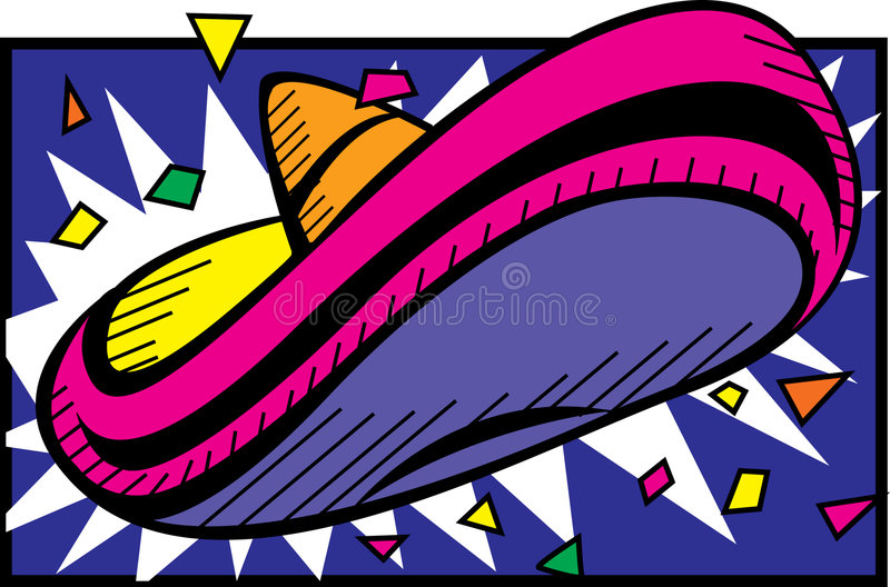 Colorful Sombrero vector illustration