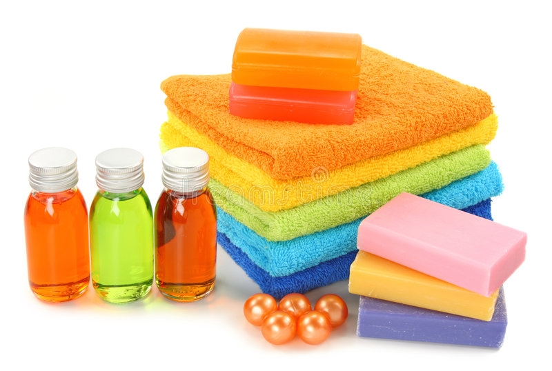 Colorful spa royalty free stock image