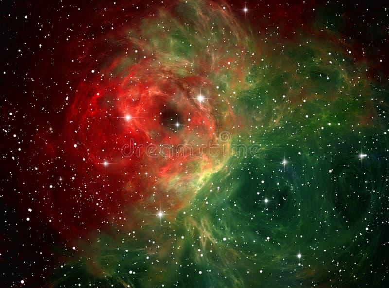 Download Colorful space nebula stock illustration. Illustration of shape - 13320703