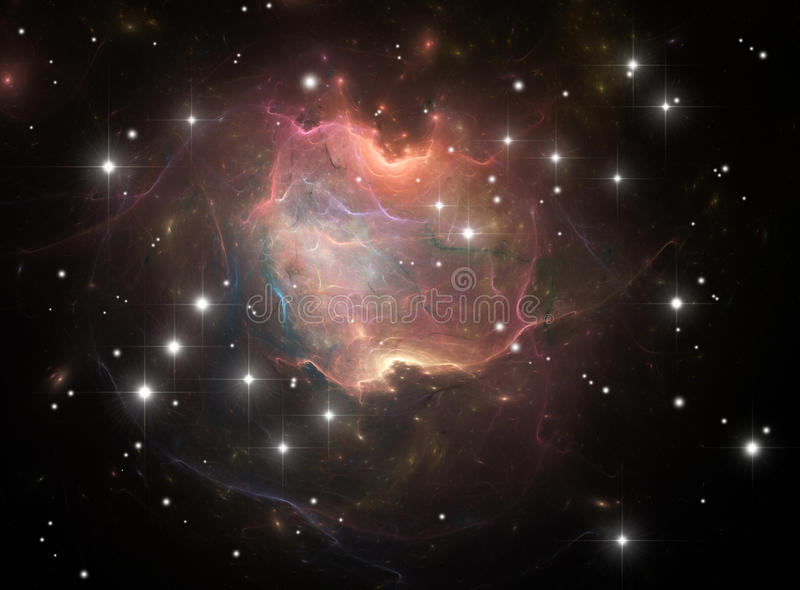 Download Colorful space nebula stock illustration. Image of beautiful - 22195732