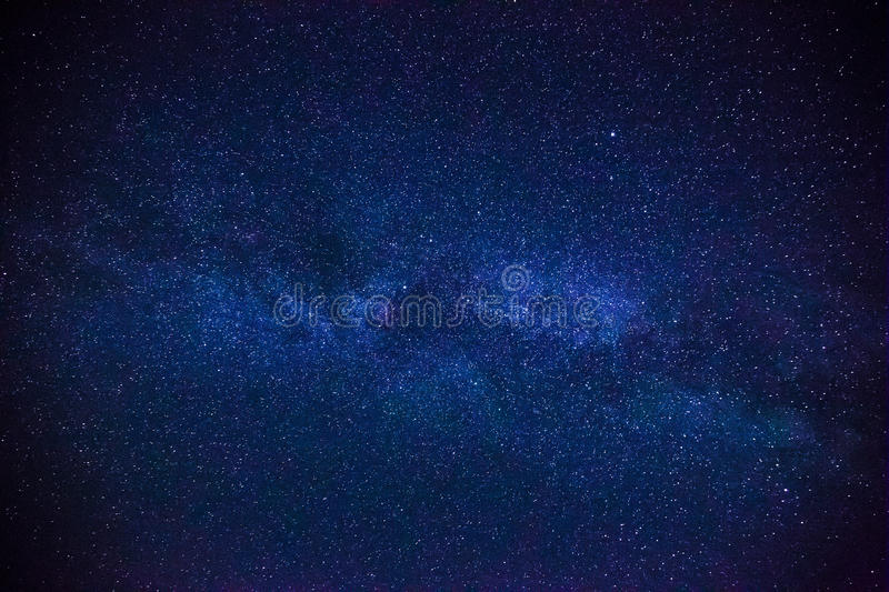 Colorful space shot showing the universe milky way galaxy with stars stock photography