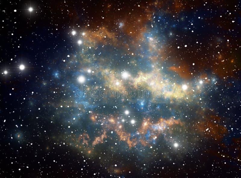 Colorful space star nebula royalty free illustration