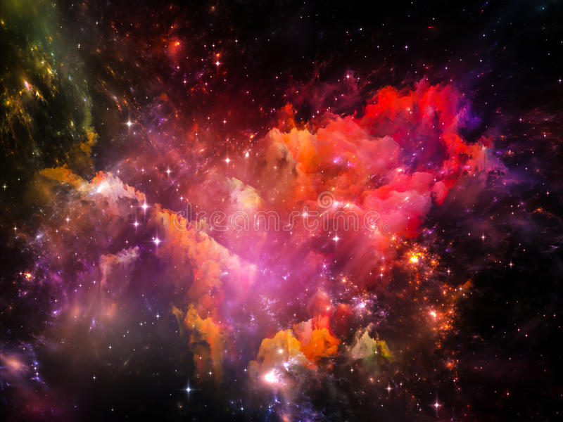 Download Colorful Space stock illustration. Image of astral, abstract - 37434529