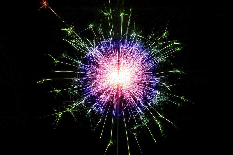 Colorful sparkler royalty free stock photos