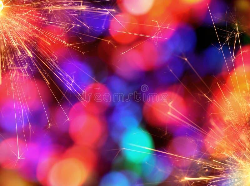 Colorful Sparkler Background stock image