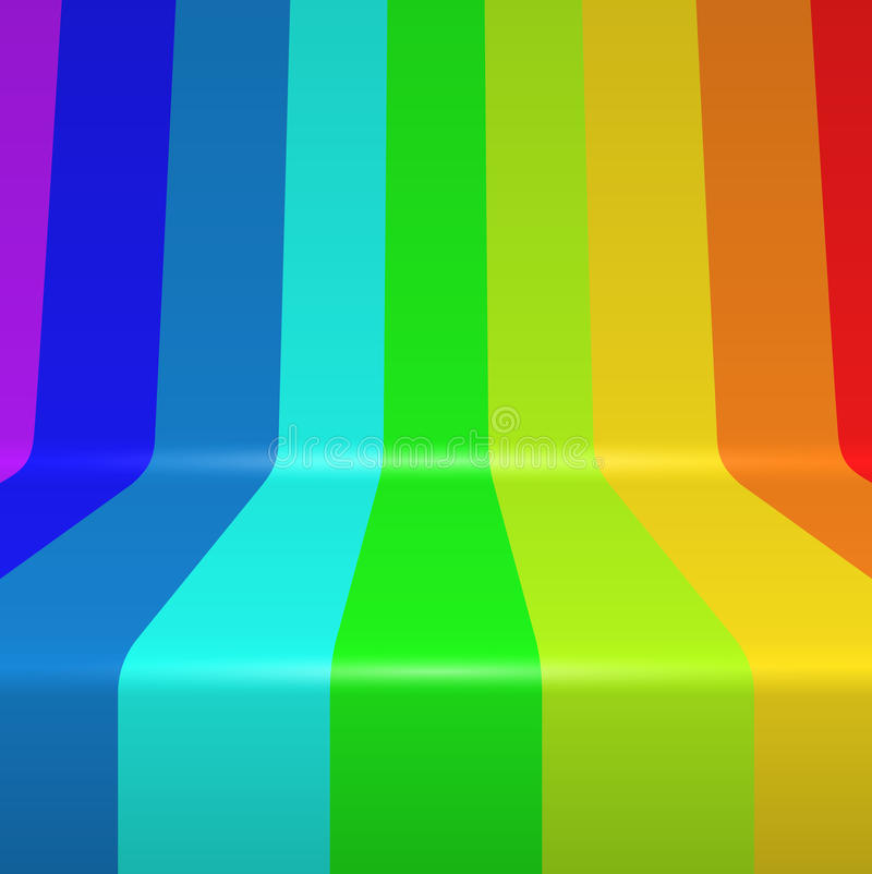 Colorful spectrum stripes. Colorful spectrum painted bent vertical stripes background stock illustration