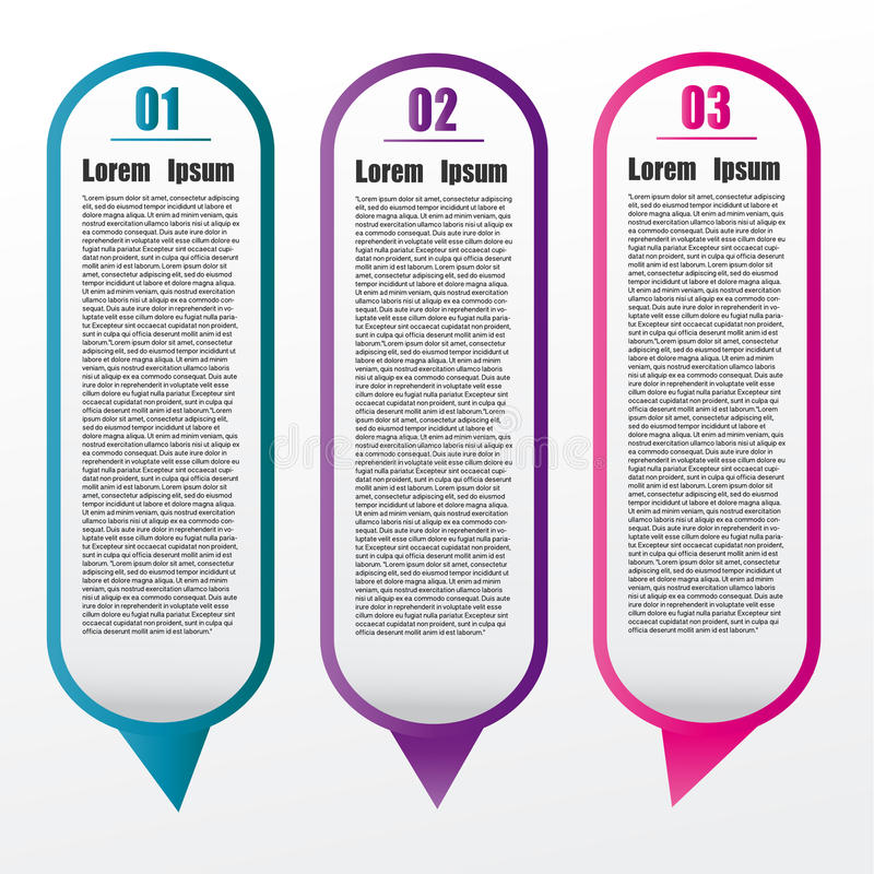 Colorful speech bubble frames on a white background. stock illustration