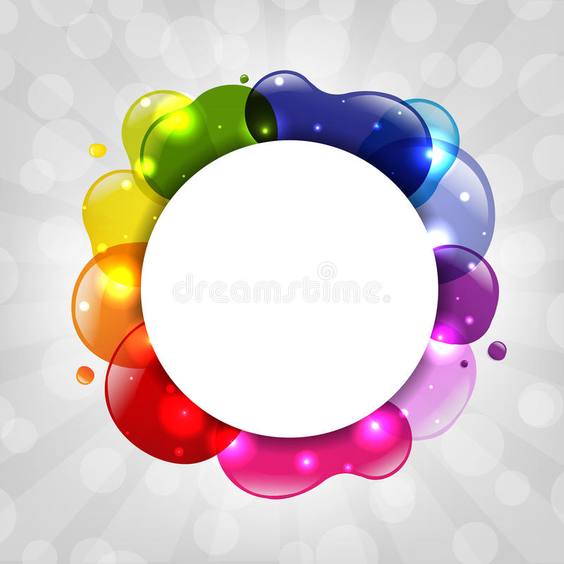 Download Colorful Speech Bubble With Sunburst Stock Image - Image: 26484001