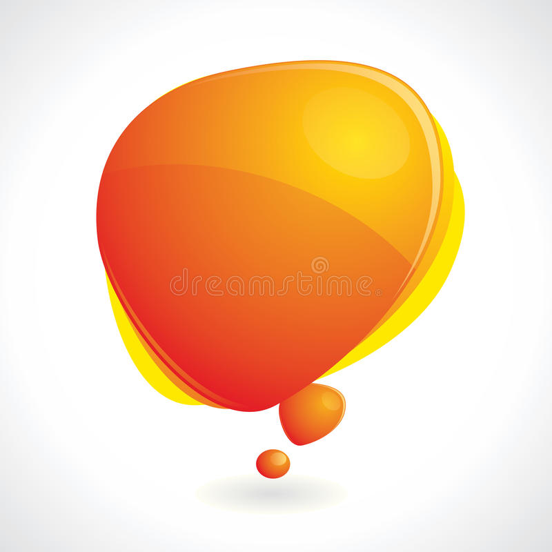 Free Colorful Speech Bubble With Reflection Royalty Free Stock Image - 18215686