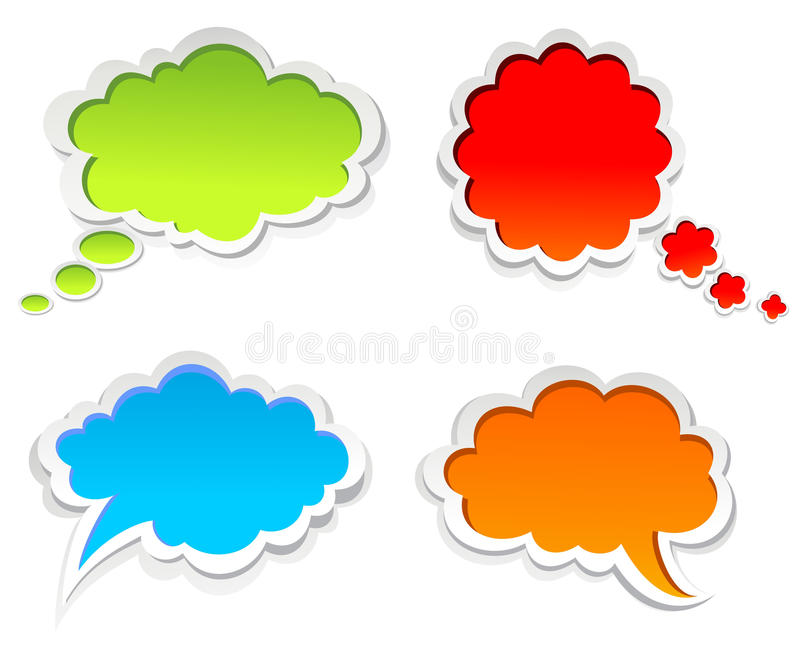 Colorful speech bubbles stock illustration