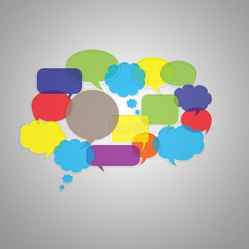 Colorful Speech Bubbles royalty free illustration