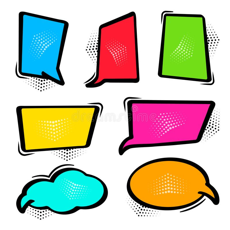 Colorful speech bubbles in pop art style. Vector illustration vector illustration