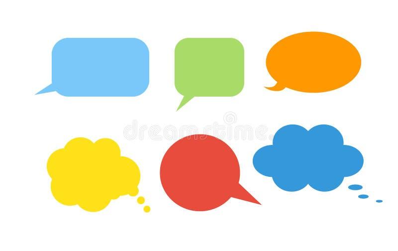 Colorful speech bubbles. stock illustration