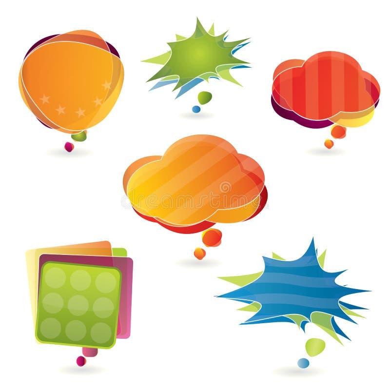 Colorful speeech bubble set vector illustration