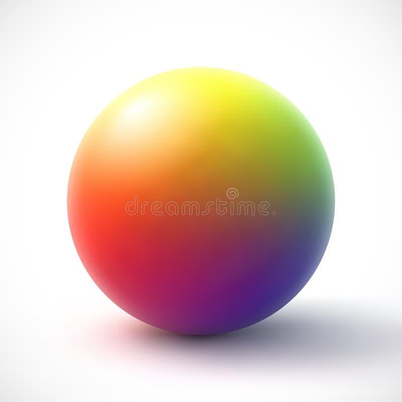 Colorful sphere on white background. Vector illustration Eps 10 stock illustration
