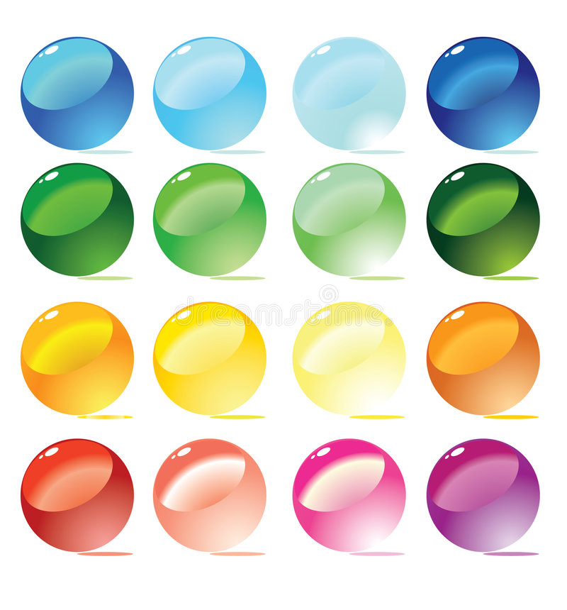 Download Colorful Spheres. Vector Royalty Free Stock Image - Image: 8767436