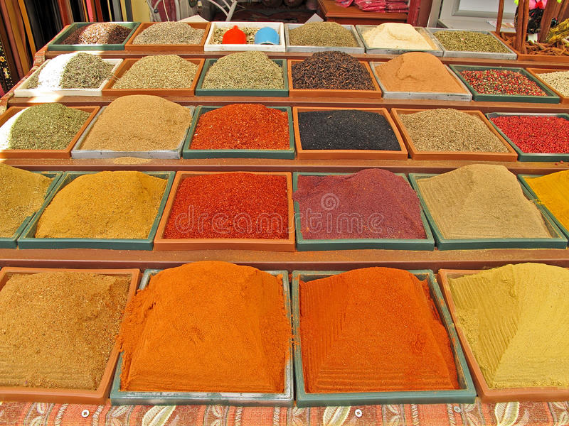 Colorful spices stock image