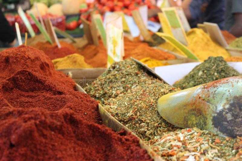 Colorful spices stock photos