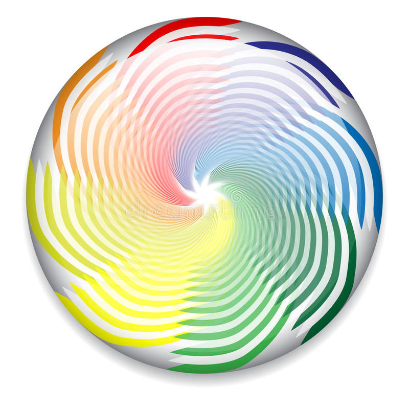 Colorful spinning button stock illustration