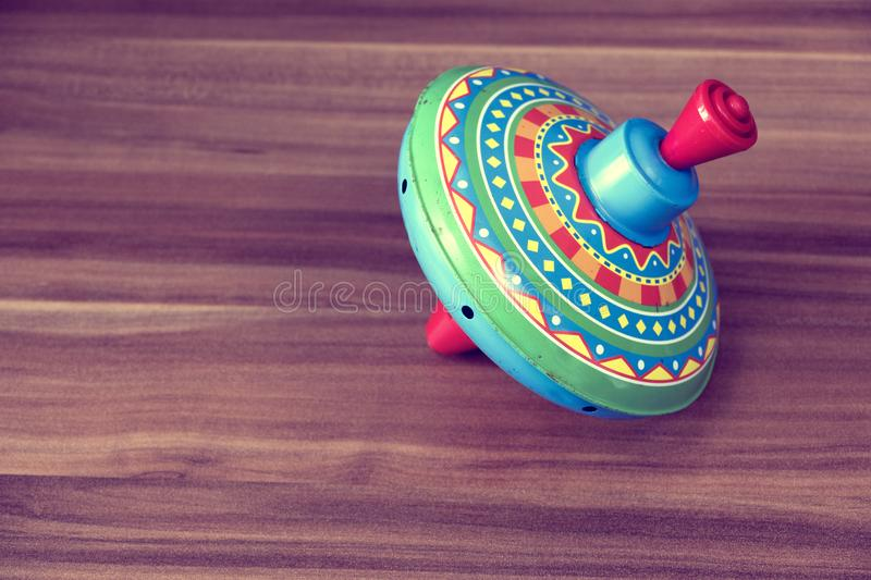 Colorful spinning top royalty free stock image
