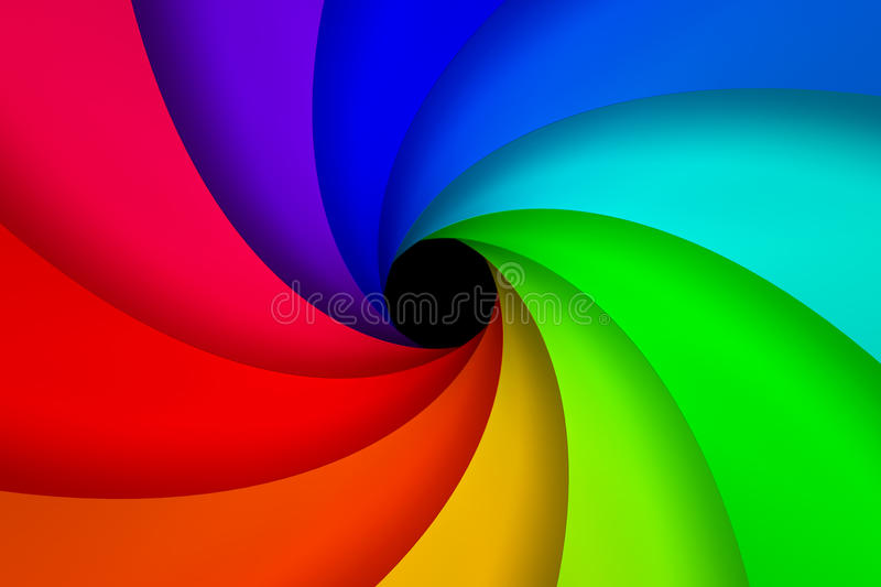 Colorful Spiral Royalty Free Stock Photo