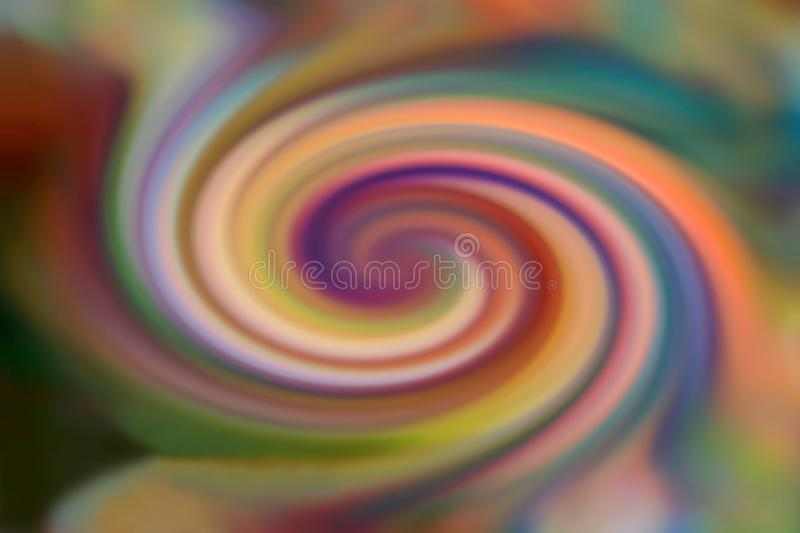 Colorful spiral background of soft colors stock images