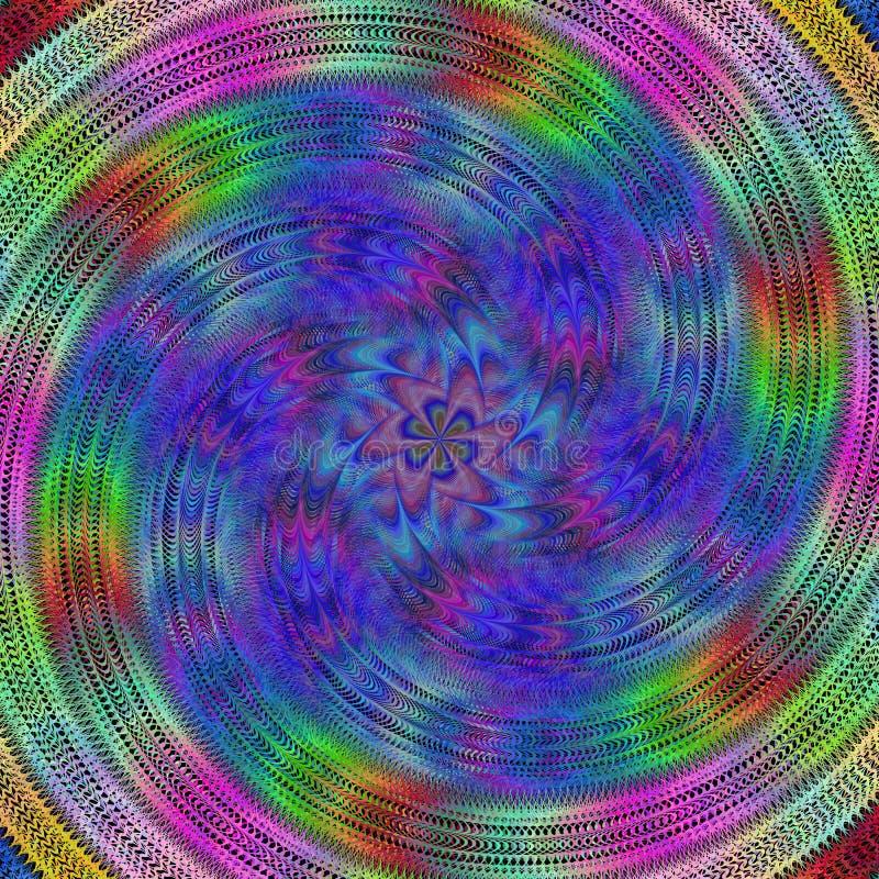 Colorful spiral fractal design background vector illustration