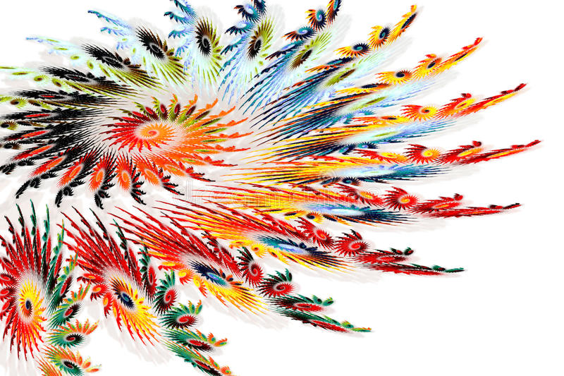 Download Colorful Spiral Fractals Resembling Feathers Stock Illustration - Illustration: 11443452