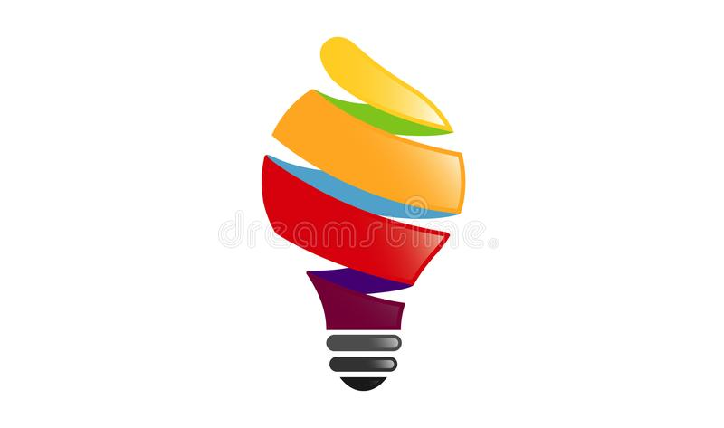 Colorful Spiral Idea Logo. Design Illustration vector illustration