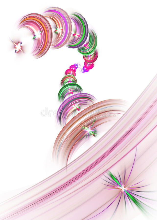 Colorful spiral vector illustration