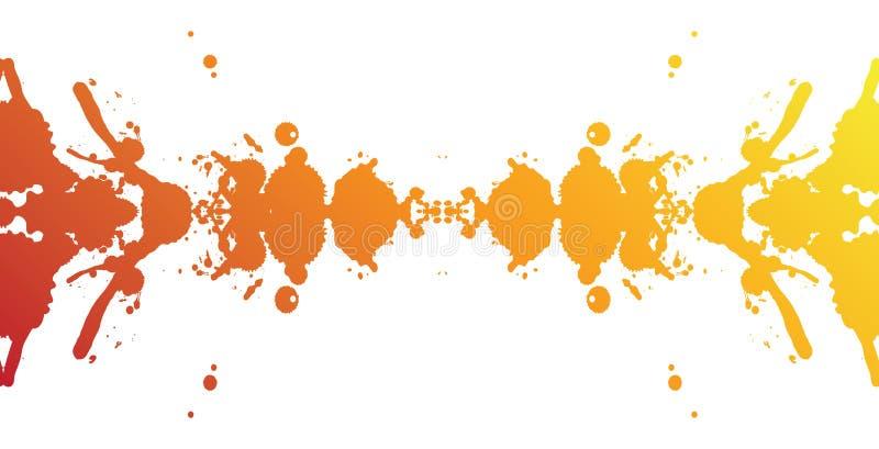 Colorful splash banner vector illustration