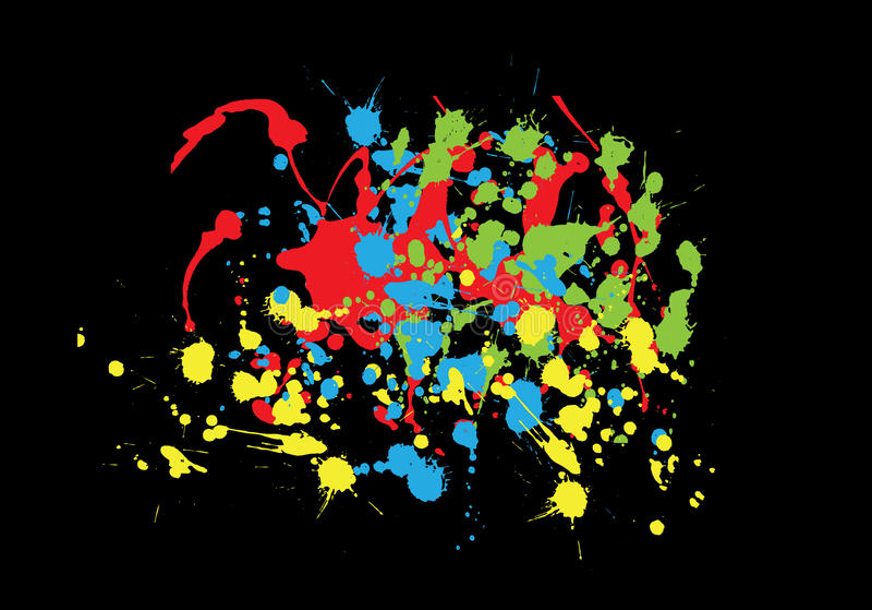 Colorful Splashes Stock Photo