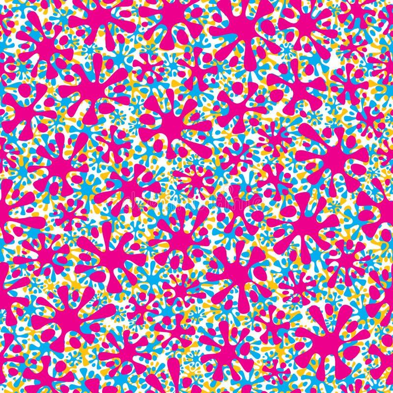 Colorful splashes seamless pattern. stock illustration