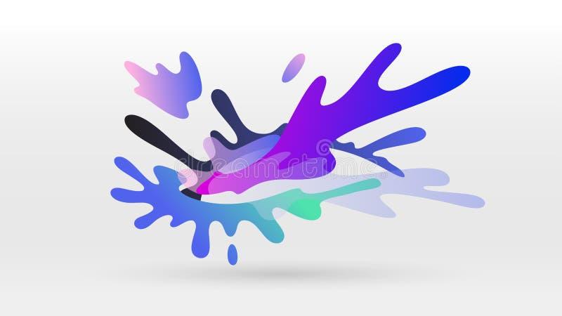 Colorful splashing ink water wave. Vector background royalty free illustration
