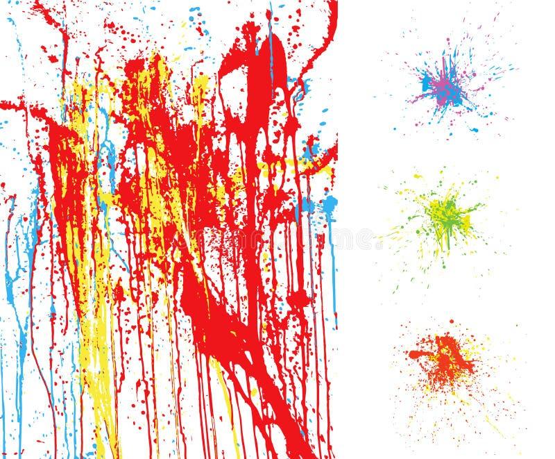 Colorful splatter backgrounds royalty free illustration