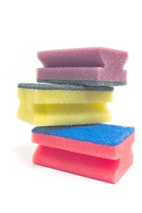 Colorful sponges royalty free stock photos