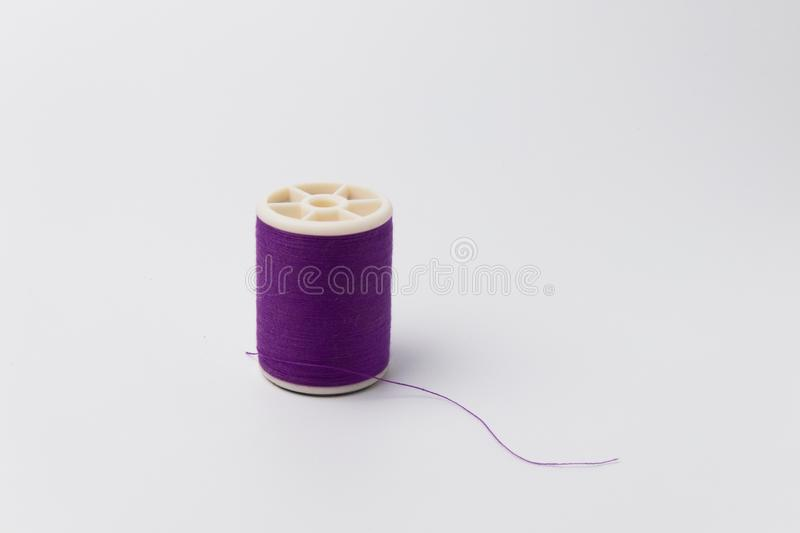 Colorful Spool of thread isolate on white background. stock image