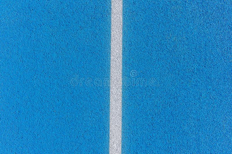 Colorful Sports Court Background. Top view blue field rubber gro royalty free stock photography