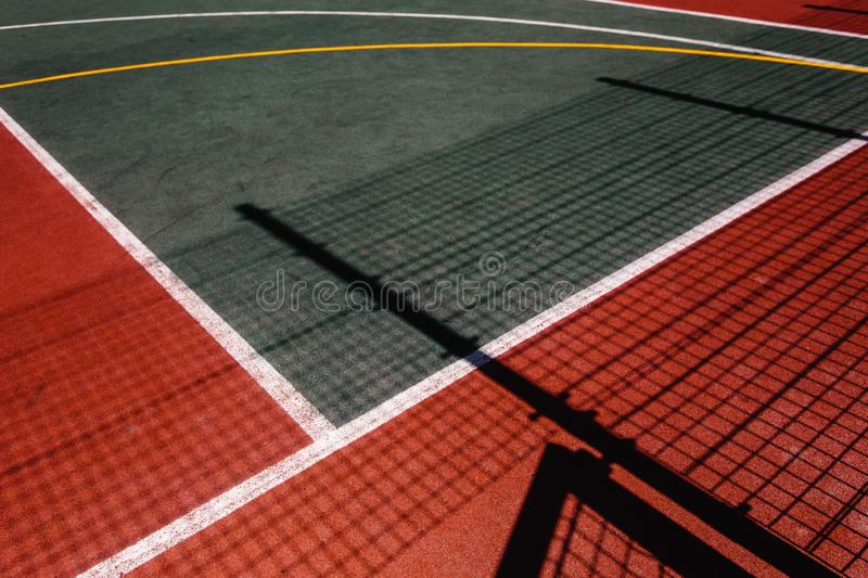 Colorful sports ground top view, sports lifestyle concept royalty free stock photos