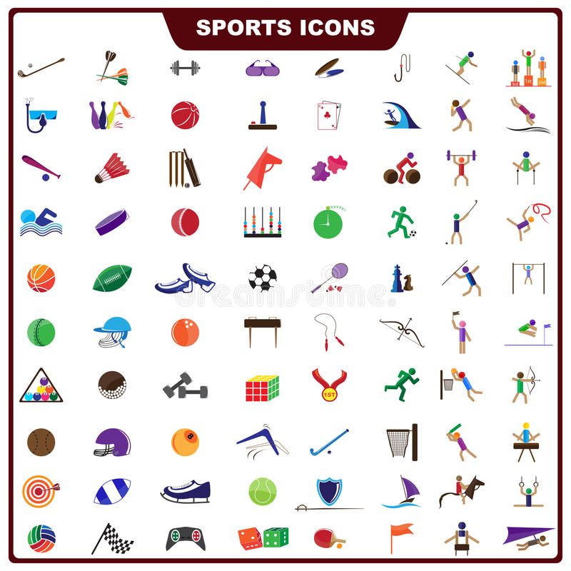 Download Colorful Sports Icon stock vector. Illustration of boxing - 30658114