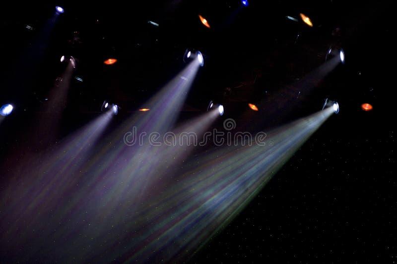 colorful spotlights theatre στοκ φωτογραφία με δικαίωμα ελεύθερης χρήσης